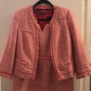 Pink Tweed WHBM dress EUC